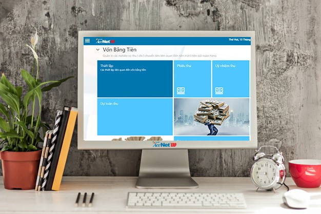 phần mềm kế toán accneterp với giao diện dễ sử dụng